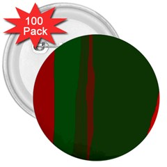 Green and red lines 3  Buttons (100 pack)