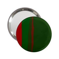 Green and red lines 2.25  Handbag Mirrors