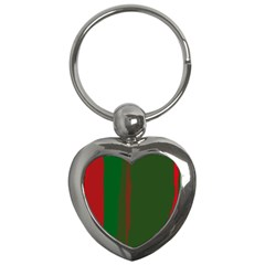 Green and red lines Key Chains (Heart)