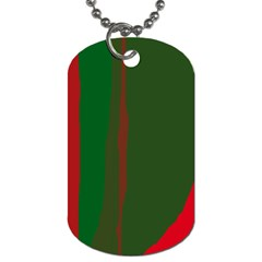 Green and red lines Dog Tag (One Side)