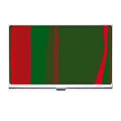 Green and red lines Business Card Holders