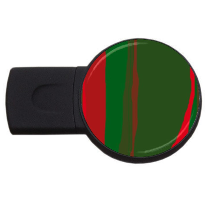 Green and red lines USB Flash Drive Round (2 GB)
