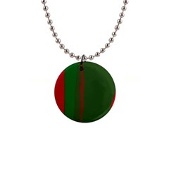 Green and red lines Button Necklaces