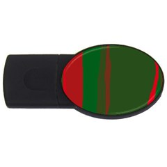 Green and red lines USB Flash Drive Oval (4 GB)