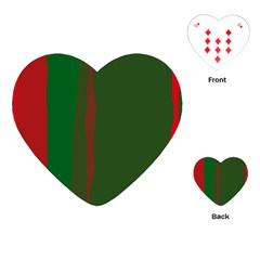 Green and red lines Playing Cards (Heart)