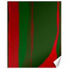 Green and red lines Canvas 16  x 20