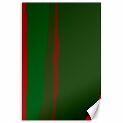 Green and red lines Canvas 24  x 36