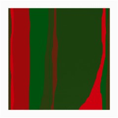 Green and red lines Medium Glasses Cloth