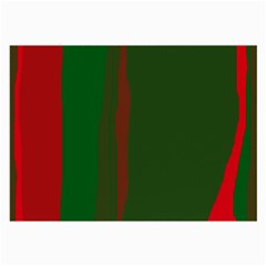 Green and red lines Large Glasses Cloth