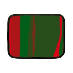 Green and red lines Netbook Case (Small)
