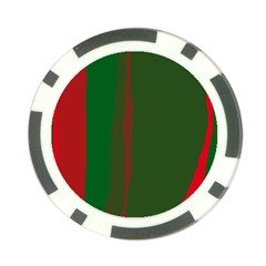 Green and red lines Poker Chip Card Guards (10 pack)