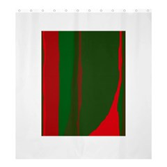 Green and red lines Shower Curtain 66  x 72  (Large)