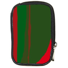 Green and red lines Compact Camera Cases