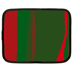 Green and red lines Netbook Case (XL)