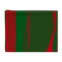 Green and red lines Cosmetic Bag (XL)