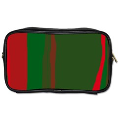 Green and red lines Toiletries Bags 2-Side