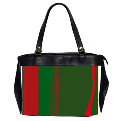 Green and red lines Office Handbags (2 Sides)