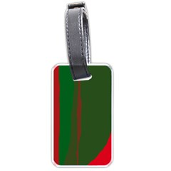 Green and red lines Luggage Tags (One Side)