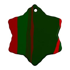 Green and red lines Ornament (Snowflake)