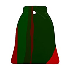 Green and red lines Bell Ornament (2 Sides)