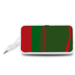 Green and red lines Portable Speaker (White)