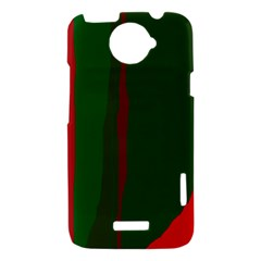 Green and red lines HTC One X Hardshell Case