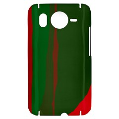 Green and red lines HTC Desire HD Hardshell Case