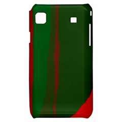 Green and red lines Samsung Galaxy S i9000 Hardshell Case