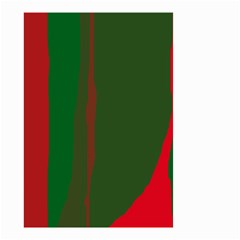 Green and red lines Small Garden Flag (Two Sides)