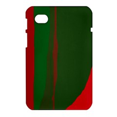 Green and red lines Samsung Galaxy Tab 7  P1000 Hardshell Case