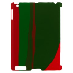 Green and red lines Apple iPad 2 Hardshell Case (Compatible with Smart Cover)
