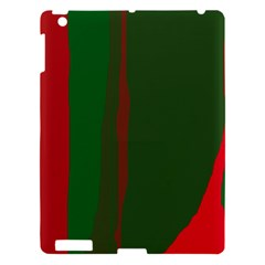 Green and red lines Apple iPad 3/4 Hardshell Case