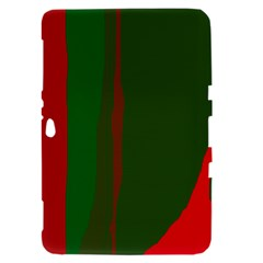 Green and red lines Samsung Galaxy Tab 8.9  P7300 Hardshell Case