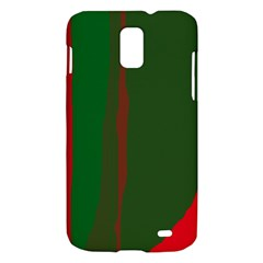 Green and red lines Samsung Galaxy S II Skyrocket Hardshell Case