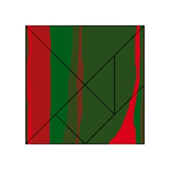 Green and red lines Acrylic Tangram Puzzle (4  x 4 )