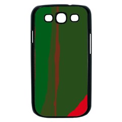 Green and red lines Samsung Galaxy S III Case (Black)