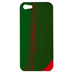 Green and red lines Apple iPhone 5 Hardshell Case
