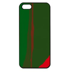 Green and red lines Apple iPhone 5 Seamless Case (Black)