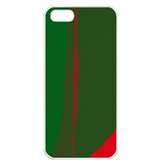 Green and red lines Apple iPhone 5 Seamless Case (White)
