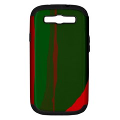 Green and red lines Samsung Galaxy S III Hardshell Case (PC+Silicone)