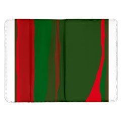 Green and red lines Kindle Fire (1st Gen) Flip Case