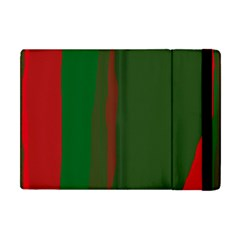 Green and red lines Apple iPad Mini Flip Case