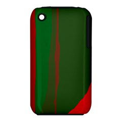 Green and red lines Apple iPhone 3G/3GS Hardshell Case (PC+Silicone)