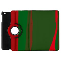 Green and red lines Apple iPad Mini Flip 360 Case