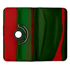 Green and red lines Samsung Galaxy Note II Flip 360 Case