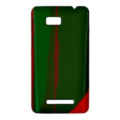 Green and red lines HTC One SU T528W Hardshell Case