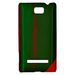 Green and red lines HTC 8S Hardshell Case