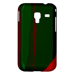 Green and red lines Samsung Galaxy Ace Plus S7500 Hardshell Case