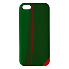 Green and red lines Apple iPhone 5 Premium Hardshell Case