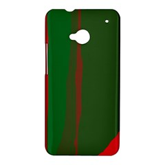 Green and red lines HTC One M7 Hardshell Case